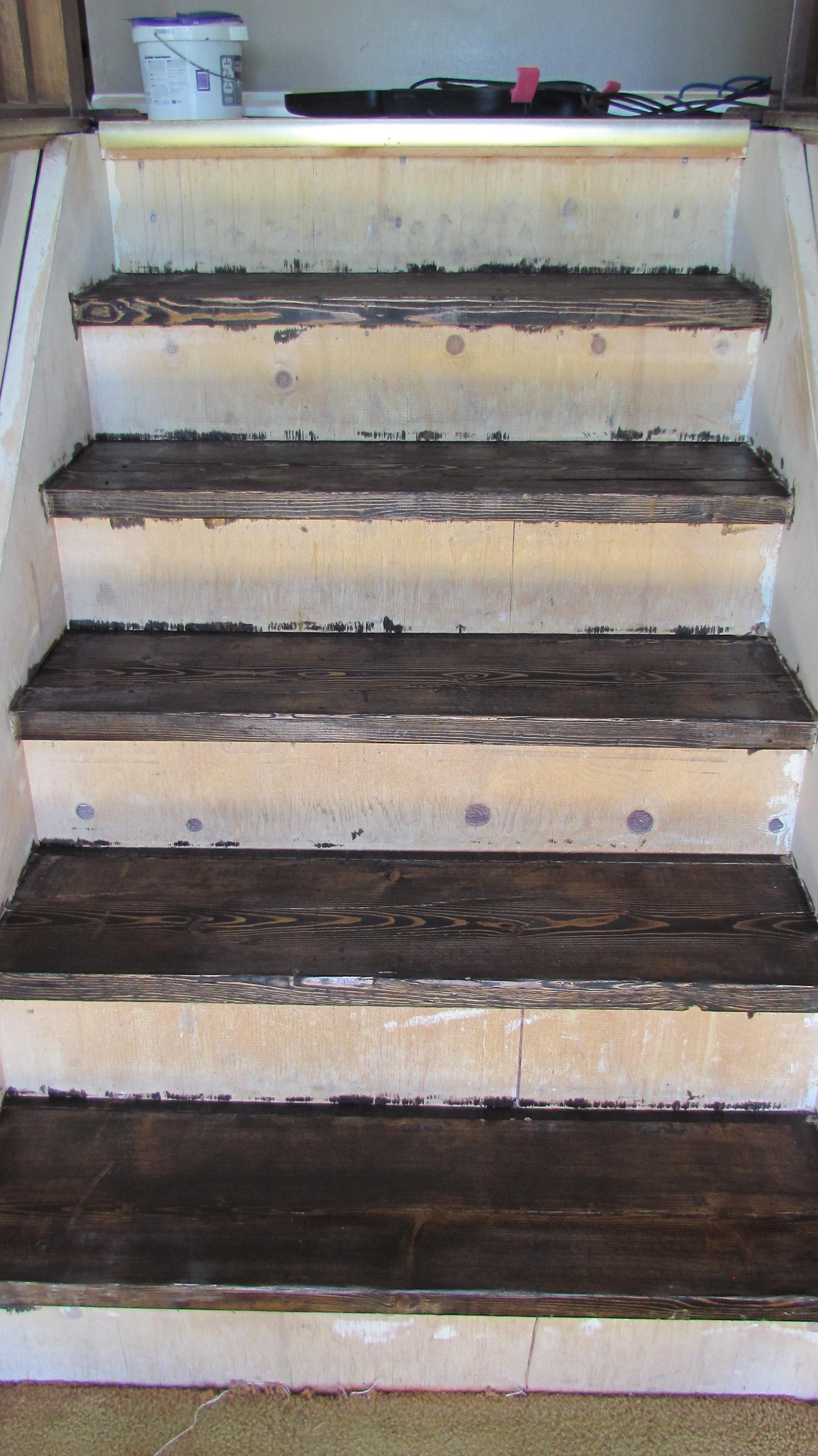 Staining Stairs | Hometownloving.com